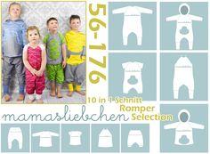 Nähanleitungen Kind - EBook E-Book #14 Romper (56-176) Kinder Overall - ein Designerstück von mamasliebchen-naeht bei DaWanda