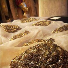 We love antique colors... our antique gold  flowers... antikgold ciceklerimiz #floraldesign #handmadeembroidery #antique #gold #nefertiti #fashion #details #accessories #handcrafted  #fashiondesign #beadwork  #fashionista #houtecoture #eveningdresses #weddingdress  #gown #wholesale #retail #fashion #beadart #inspriation  #Turkey #India #newyork #abiye #elislemesi  #aksesuar  #toptansatış #perakende satis