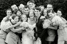 What I Love: Picture Of The BridesmaidS And GroomsmeN With The Bride And Groom.
