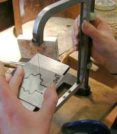 Making a tool stamp for stamping out flat metal shapes.   FluxPlay.