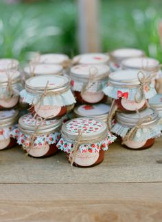 Strawberry Jam in Jars | Perfect Strawberry Party Favors
