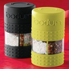 The Container Store > Bistro Salt & Pepper Grinder by Bodum® - 2in1 grinder - turn right for pepper, left for salt