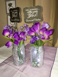 Centerpieces with led tea lights inside