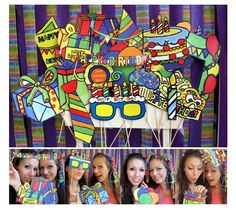 colorful birthday photo booth props - perfect accesory for your next birthday party. $15.99, via Etsy.