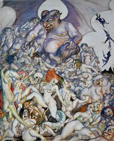 """Rosaleen Norton, """"Bacchanal"""" Rosaleen was both a witch and an artist ! Rosaleen Norton, Pagan Gods, Cafe Art, Occult Art, Witchcraft, Magick, Gods And Goddesses, Life Drawing, Pretty Art"""