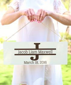 Personalized Baby Wall Sign