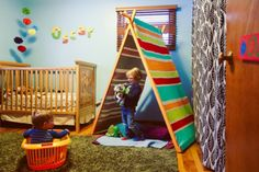 Making a painted A-Frame Tent and Reading Nook   Do It Yourself Home Projects from Ana White