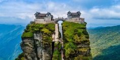 Mount Fanjing - Temple of the Buddha and the Temple of Maitreya - Wuling mountain range in southwestern China's Guizhou province In China, Chinese Mountains, Sacred Mountain, Saint Michel, Buddhist Temple, Sea Level, Nature Reserve, Mountain Range, Photos Of The Week