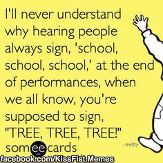 A little #ASL humor!