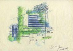 Modern Art Museum of Fort Worth by Tadao Ando Contemporary Museum, Museum Of Modern Art, Fort Worth Art Museum, Bernard Tschumi, Technical Illustration, Steven Holl, Tadao Ando, Zaha Hadid, Architecture