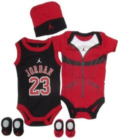 Amazon.com: Jordan Baby 23 Jersey and Warmup Set for Baby Boys and Girls (One Size 0-6 Months) Black/ Red, 0-6 Months: Clothing $29.95