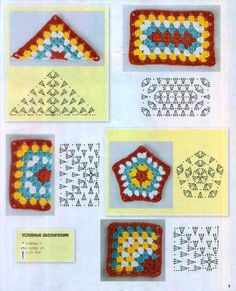 Transcendent Crochet a Solid Granny Square Ideas. Inconceivable Crochet a Solid Granny Square Ideas. Crochet Motifs, Granny Square Crochet Pattern, Crochet Blocks, Crochet Diagram, Crochet Chart, Crochet Squares, Crochet Geek, Crochet Granny, Filet Crochet