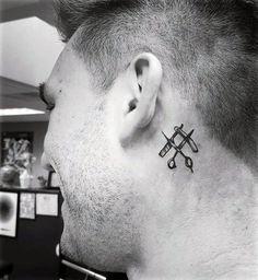 Hand Tattoos, Best Neck Tattoos, Small Tattoos, Tattoos For Guys, Low Cut Hairstyles, Black Men Tattoos, Barber Tattoo, True Tattoo, Tribal Symbols