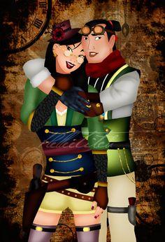Steampunk Mulan & Shang