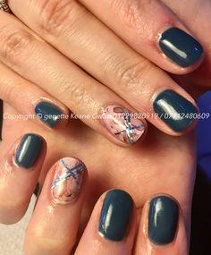 CND shellac gel polish & foil nail art