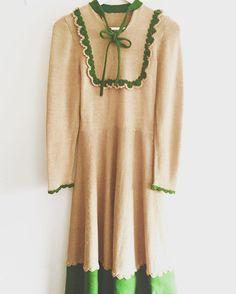 New product ecru green knit dress お知らせ 2/12/7 銀座 奥野ビル508号室で pop-up shop をします7日間限定ですご試着もできますので是非遊びにいらしてくださいお値引きもします 東京都中央区銀座1-9-8 奥野ビル508号室 12-19 pm (7日は17時まで) 19時以降にご来店希望の方はお気軽にご連絡ください http://fab-vintage.net  #fab.#vintagefashion #1940s#1930s#ヴィンテージ #ビンテージ#ヴィンテージファッション#ヴィンテージドレス#ヴィンテージワンピース #ヴィンテージショップ #ポップアップショップ #銀座 #奥野ビル#ニットワンピース