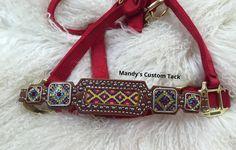 Beaded noseband halters Mandy's Custom Tack