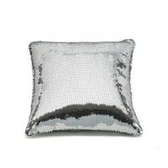 Sequined pillow.