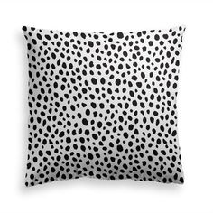 Decorative Throw Pillow POLKA DOTS - Animal Pillow Print, Black Dots Pillow, Contemporary Modern Home Decor, Premium Pillow, Pillow Cover Power Nap, Black Animals, Black Dots, Animal Pillows, Decorative Throw Pillows, Modern Contemporary, Pillow Covers, Polka Dots, Fabric