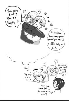 If Alfred is a big baby (page 3) Alfred...you really shouldn't have to grow up, seriously. I missed your childhood. ☁️Chibidora☁️
