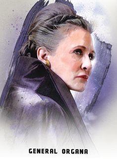 General Organa in The Last Jedi