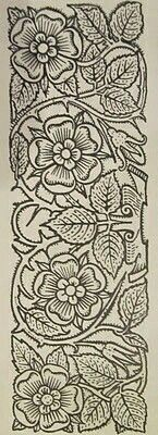 Baroque Embellishments with the Tudor Rose! Jacobean Embroidery, Blackwork Embroidery, Hand Embroidery Patterns, Embroidery Designs, Embroidery Books, Leather Carving, Leather Tooling, Tudor Rose, Motif Floral