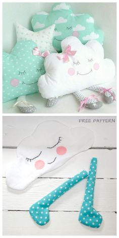 DIY Fabric Cloud Baby Free Sewing Pattern & Tutorial - Sew # Sewing Tutorials For Baby Hand Embroidery Patterns Free, Sewing Patterns Free, Free Sewing, Sewing Tutorials, Free Pattern, Pattern Sewing, Smocking Patterns, Craft Patterns, Baby Sewing Projects
