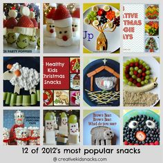 Collection of adorable Kids Snacks to make throughout the year from creativekidsnacks.com