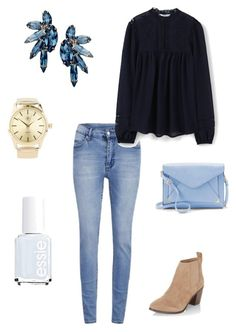 """""""Untitled #217"""" by kmysoccer on Polyvore featuring Cheap Monday, MANGO, Elizabeth Cole, Charlotte Russe, Essie, Apt. 9 and New Look"""