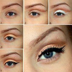 coral, mask, eyeshadow
