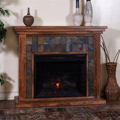 Sunny Designs 3486RO-50R Sedona Fireplace Console
