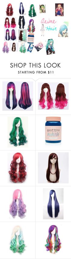 """""""Anime hair"""" by bluephoenx ❤ liked on Polyvore featuring WithChic and Lime Crime"""