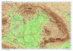 Topographic map of Hungary and surrounding areas Topographic Map, Hungary, Vintage World Maps, Photo And Video, Spirit, Calligraphy, Culture, Indian, Google