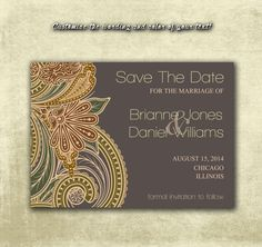 DIY Printable Wedding Save The Date PDF от MyPrintableCreations