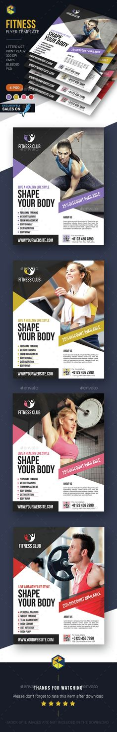 Fitness Flyer Template PSD. Download here: http://graphicriver.net/item/fitness-flyer-template/14727655?ref=ksioks