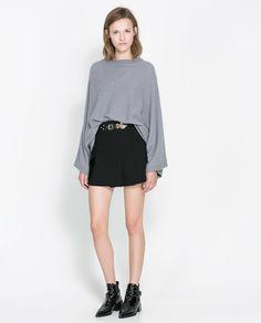 BOAT NECK PONCHO - Knitwear - Woman | ZARA Canada