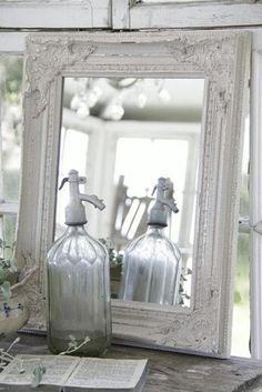 vintage - mirror - spiegel - wit
