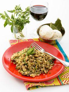 ORGE AUX CHAMPIGNONS Un plat végétarien qui peut être servi en entrée ou en accompagnement.