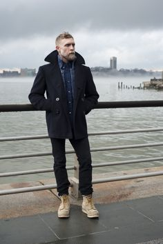 """This is a favorite ""winter in new york"" outfit. Maybe it's the blond beard but I tend to default to the seafarer look."""