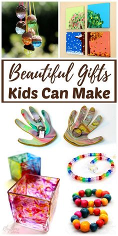 Mother's Day Gift Ideas Kids Can Make - Homemade gift ideas are always a favorite with mom. Easy to follow DIY directions for each of these unique handmade crafts are provided for each kid-made gift.