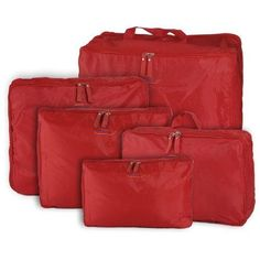(Organizer Underwear Tie Cosmetic Clothes Luggage Suitcase Pouch #Red. 5PCS Travel Household Storage Nylon Zipper Bag. Each contain 5 different size case, color optional :). | eBay!