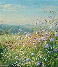 'Scabious, Bonsall Moor' by Mark Preston. Part of his two man exhibition with Rex Preston, opening at gallerytop on 3 October 2015