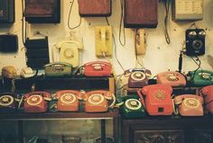 vintage phone collection. - image as seen on Campbells Loft fb page