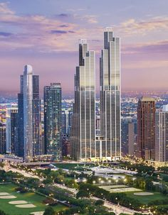 Michigan and Roosevelt The development firm Crescent Heights teamed up with worldrenowned architect Rafael Violy for. Modern Architecture Design, Futuristic Architecture, Architecture Photo, Concept Architecture, Tower Building, Building Facade, Building Design, Unusual Buildings, Beautiful Buildings