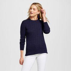 Women's Pullover Sweaters - Merona Xavier Navy Xxl