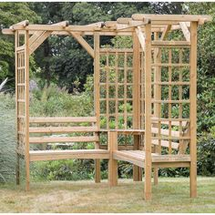 Found it at Wayfair.co.uk - 4 Seater Timber Corner Arbour