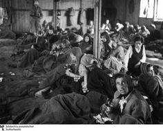 Epidemia de tifus: En la enfermería mujeres enfermas esperan después de la liberación ...