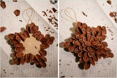 Top 20 Cute DIY Crafts For the Enthusiast Beginner-homesthe. - Top 20 Cute DIY Crafts For the Enthusiast Beginner-homesthe… Informations About Top 20 Cute D - Pinecone Ornaments, Diy Christmas Ornaments, Homemade Christmas, Rustic Christmas, Christmas Holidays, Christmas Shopping, Christmas Carol, Christmas Tree, Christmas Quotes