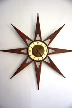 Love this MCM Starburst Wall Clock!