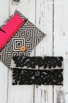 No Sew Placemat Clutch DIY